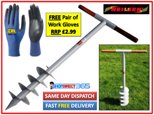 """Manual Garden Earth Auger 160mm Fence Post Hole Soil Digger 6"""" Hand Drill CT2347"""