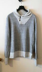 Omnigod Shawl Collar grey melange Sweatshirt Sweater Size 4 L Made in Japan
