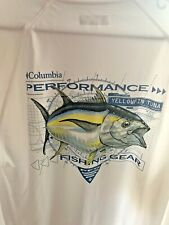 New Columbia PFG  Long Sleeve  UPF 50 - White - Yellowfin Tuna - Men Medium
