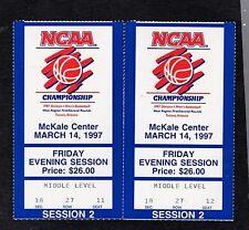 1997 (2) NCAA BASKETBALL  GAME USED TICKET STUBS-WEST REGIONAL-TUCSON,AZ.