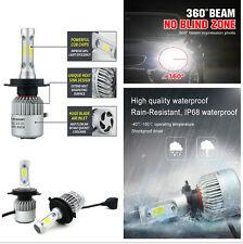 2pcs Car H4 LED Headlight Bulbs Two-way Heat Dissipation Low High Beam Bridgelux
