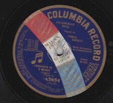 Pablo Casals on 78 rpm Columbia A5654: Romanza (Campagnoli)/Concerto in Dm