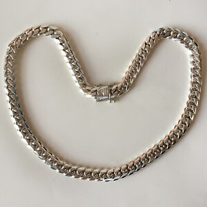 """15.5 mm solid Miami Cuban link Fine .999 silver chain necklace handmade 26.5"""""""