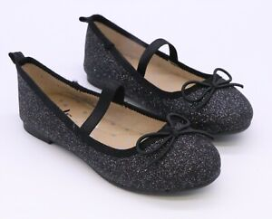 CAT & JACK TODDLER GIRL'S GLITTER BALLET FLATS SPARKLY MARY JANE SHOES CHOICE