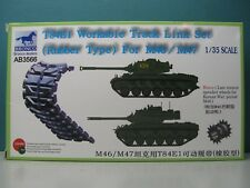 BRONCO MODELS 1/35 T84E1 WORKABLE TRACK LINK SET (RUBBER TYPE) M46/47 #AB3566