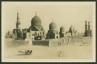 Cairo, The Tombs of Kalifs - Vintage Real Photographic Postcard By Scortzis & Co