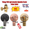 Holder Switch Vintage Sconce E27 Industrial Edison Wall Loft Retro Lamp Lighting