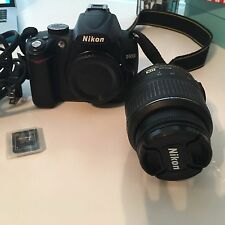 Nikon D5000 12.3 Mp Digital Slr camera; w/ Accessories, memory card and manual