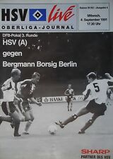 Program Trophy 1991/92 Hamburger Sv Am Bergmann Bristle Berlin