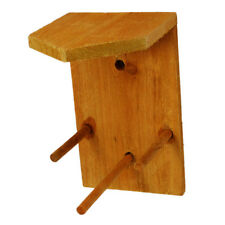 Vogelfutter Spender Holz naturbelassen Vogelfutterhaus Apfel Futterstelle
