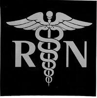 RN BUMPER STICKER DECAL REGISTERED NURSE LAPTOP STICKER MEDICAL
