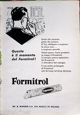 ✅1958 ADV Pubblicità FORMITROL l'energico potere antisettico del Formitrol