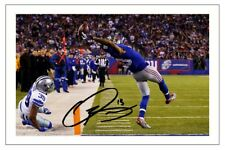 ODELL BECKHAM JR NEW YORK GIANTS SIGNED PHOTO AUTOGRAPH PRINT NFL FOOTBALL
