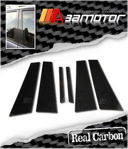 Carbon Fibre Door B Pillar Panels Covers 6PCS fits Mercedes W203 C-Class Saloon