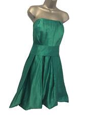 ❤ OLI Size 20 BNWT Ladies Green Satin Strapless Sash Bridesmaid Prom Party Dress