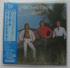 EMERSON LAKE & PALMER-LOVE BEACH + 3 Japon SHM MINI LP CD OBI Nouveau VICP - 70158