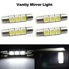 4x White Mirrior Bulbs 3 SMD 6641 6614F Fuse LED Sun Visor Vanity Mirror Lights