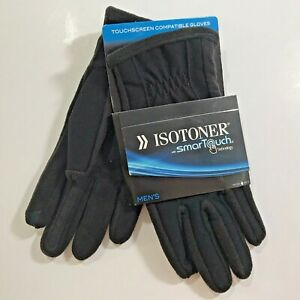NEW ISOTONER SMARTOUCH Black Gloves-Men's XSmall-Women's Small/Medium-$55 Retail