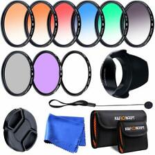 K&F Concept 58mm UV CPL FLD + 6pcs Graduated Color Filter Kit w/ Pouch for Canon
