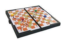 Pocket Travel Board Game Uk Design Snakes & Ladders Magnetic Folding 13 x 13 cm
