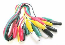 Crocodile Clip Test Leads 10pc Coloured Cable Wire Double End Jumper Bergen 6644