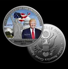 American 45th President Donald Trump Silver Coin US White House Coin Collection