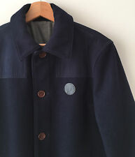 FRED PERRY NAVY BLUE WOOL BLOUSON JACKET S mod pea coat casuals classic weller