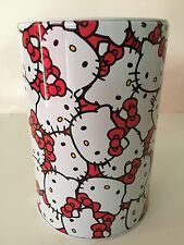 Hello Kitty Piggy Bank Coin Jewelry Tin Money Box Case Saving NWT Faces White