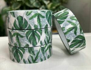1 Roll - 'Tropical Leaves' Washi Tape (Width 1.5cm / Length 10m per Roll)