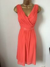COAST coral beaded detail dress size 12 vgc