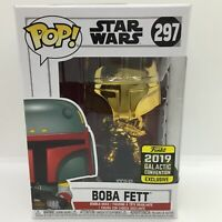Funko Pop Star Wars Gold Chrome Boba Fett 297 Galactic Convention Exclusive #2