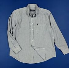 ralph lauren camicia shirts uomo usato M quadri blu luxury manica lunga T6034