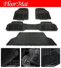 Waterproof Front Amp Rear Rubber Floor Mats All Weather Trunk Cargo Liner Carpet Fits 2003 Honda Pilot