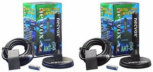 Necvox Magnetic Antenna x 2 with F Type Connector 5 metres coax each