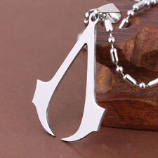 Assassin's Creed Logo Stainless Steel Cosplay Pendant Necklace Gift UK Stock