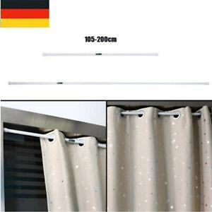 Duschstange Teleskop 105-200cm Dusch Vorhang Stange Klemm Ausziehbar Ohne Bohren