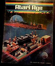 ATARI AGE  MAGAZINE JULY/AUGUST 1982 IN GOOD CONDITION! RARE!