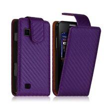 Housse coque etui gaufré pour Samsung Star 2 S5260 couleur violet