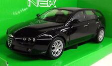 NEX modelli in scala 1/24 22482 W ALFA ROMEO 159 Sportwagen NERO MODELLO DIECAST AUTO