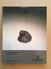 Christie's December 2 1985 Fine Chinese Ceramics Bronze Jade Sculpture Catalog