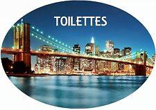 plaque de porte toilettes new york personnalisée au choix réf 273
