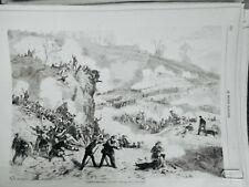 1862 MI GUERRE AMERIQUE COMBAT PEA RIDGE ARKANSAS