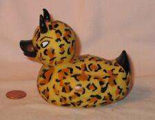 Leopard Rubber Squeak Devil Duck; By Accoutrements 2000