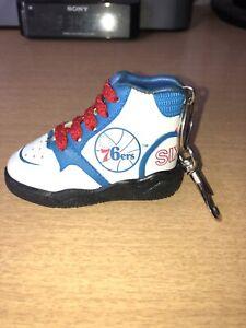 Super Rare Vintage 1970s? Philadelphia 76ers Hightop Basketball Shoe Keychain!!
