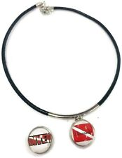 """SCUBA Divemaster Diver Flag and DIVER 15"""" Necklace with 2 18MM - 20MM Snap Jewel"""