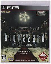 PS3 Biohazard Resident Evil Hd Remaster Japanese Ver.- Multi-Language Free Ship