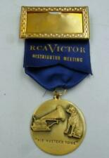 VINTAGE 1950S RCA HIS MASTER'S VOICE DISTRIBUTION MEETING MEDAL OLD NEW STOCK