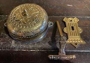 Victorian Style Mechanical Pull Knob Doorbell - Door Bell