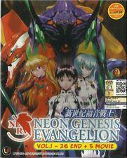 Anime Neon Genesis Evangelion Complete Series + 5 Movie Box Set