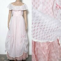 Prairie ruffled gorgeous lace gown vintage wedding dress prom country southern